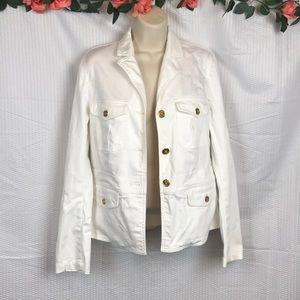 Chaps EST. 1978 White Jean Jacket